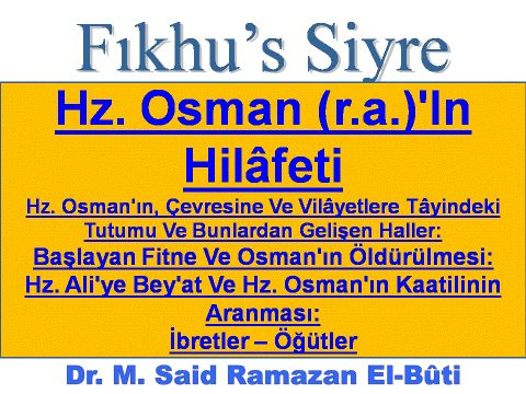 Hz. Osman (r.a.)'In Hilâfeti